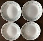 4 Corelle COUNTRY COTTAGE BREAD PLATES Salad DESSERT Blue Hearts CORNING Dishes