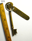 GENUINE WWII Era Brass Tag Antique Ship Skeleton Key Navy Old More Keys Here