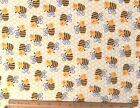 SNUGGLE FLANNEL BUMBLE HONEY BEES  HONEYCOMB Cotton Fabric NEW  BTY
