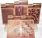 Crafter Companion Textures Embossing Folders Artist Collection Large 5 x 7 UPick