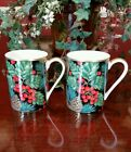 2 Fitz and Floyd Holiday Pine Mugs