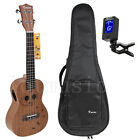 Kmise Concert Ukulele 23 inch Hawaii Guitar Mahogany Carved Cat Bag JOYO Tuner