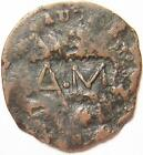 1787 Connecticut Colonial Copper Coin Rare Early Date Counterstamped A.M