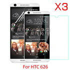 3X Tempered Glass Screen Protector PET Soft Film For HTC Desire 626 626S
