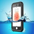 Heavy Duty Protective Waterproof Case Cover Shockproof for iPhone SE 5S 5 Black