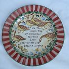 """222 Fifth 12 Days of Christmas 6 French Hens Salad Dessert Plate 8"""" MINT"""