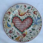 """222 Fifth 12 Days of Christmas 4 French Hens Salad Dessert Plate 8"""" MINT"""