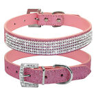 14 18 Bling Rhinestone PU Leather Cat Dog Collars Cute for Small Dogs Chihuahua