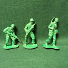 3  VINTAGE 75MM AUBURN RUBBER US ARMY SOLDIERS