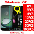 9H Premium Tempered Glass Screen Protector For Motorola Moto Z Play Droid LOT