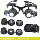8Lens Magnifier Magnifying Eye Glass Loupe Jeweler Watch Repair with LED LightW