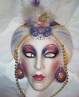 CLAY ART MASK..WOMEN / LADY. SCHEHERAZADE..MULTI-COLOR..BEAD ACCENT..SAN FRAN