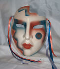 CLAY ART MASK..CHEROKEE MAGIC.MULTI COLOR.SAN FRANCISCO. ABOUT FACE