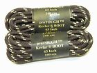 Brown w Yellow Kevlar Reinforced Shoe Boot laces Shoestrings Round Heavy Duty