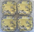 NEW 222 FIFTH ADELAIDE YELLOW SQUARE SET OF 4 DINNER PLATES 11