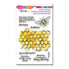 BEE Happy Honeycomb CLEAR Unmounted Rubber Stamp Set STAMPENDOUS SSC1257 New