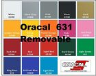 12 x 50 Oracal 631 vinyl Sign Craft Plotter Cutter Removable Wall Art Graphic