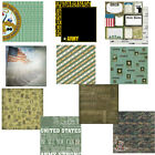 CUSTOM SCRAPBOOK PAPER SET UNITED STATES US ARMY MILITARY 12 X 12 PAPERS KIT