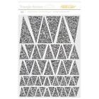 American Crafts Lemonlush Chipboard Stickers Glitter Triangles Banners