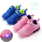 New LED Kids Boys Girls Shoes Casual Light Up Luminous Baby Sport Sneakers
