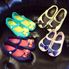 Baby Girls Jelly Shoes Toddler Kids Summer Fashion Cute Bow Soft Cartoon Sandals