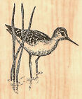 Small Sandpiper Bird Wood Mounted Rubber Stamp Impression Obsession B1259 NEW