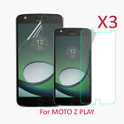 3X Tempered PET Soft Glass Screen Protector For Motorola Moto Z Play Droid