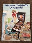 1989 Bally Atlantis Pinball Flyer