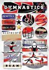KAREN FOSTER DESIGN I LOVE GYMNASTICS SPORTS GYM CARDSTOCK SCRAPBOOK STICKERS