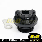 Black Billet CNC Oil Filler Cap for Ducati Monster 900 1000 ie 1100 EVO