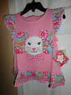 NWT Nursery Rhymes EASTER SPRING FLOPPY EARS BUNNY dress 12 mo