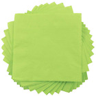 JAM Paper Small Beverage Napkins 5 x 5 Lime Green 50 Pack