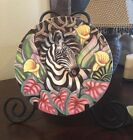 Fitz & Floyd Exotic Jungle Plate Zebra! New! Collector/Salad Plate