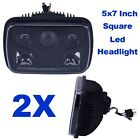 5x7 H4 Square Headlight LED For Chrome Lamps High low Beam Projector Lens