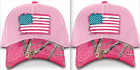 Buck Wear Hat Ladies Pink Flag Hat One Size Fits Most RealTree Camo  Style 9691