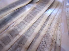 real sea snake skin hide tanned sea snakeskin genuine Pelts Leather Cream glossy
