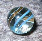 Beautiful Mint Antique Handmade BANDED LUTZ Marble. 45/64