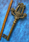 Huge 10 Rare Brass Collectors Antique Old Vintage Skeleton Key Heavy 1 LB
