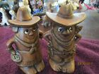 VINTAGE COWGIRL AND COWBOY SALT AND PEPPER SHAKERS USA