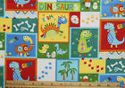 SNUGGLE FLANNELDINOSAURS in COLORFUL BLOCKS 100 Cotton FabricNEW BTY