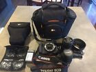 Canon EOS Rebel T3i 2 lenses and accessories