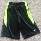NWT NIKE BOYS AVALANCHE 20 BASKETBALL SHORT BLACK VOLT SZ M 642152 010