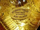 Robert Held Hand Blown Gold Glass Heart Signed by Artist Canada