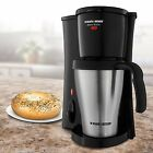 Decker DCM18S 2 Cups Personal Coffee Maker With Travel Mug Black/Silver