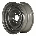 01204 Factory OEM Reconditioned Steel Wheel 14 X 6 Flat Grey Full Face Painted