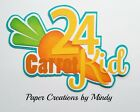 Craftecafe Mindy 24 Carrot Kid Easter premade paper piece scrapbook title