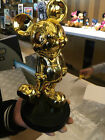 Extremely Rare! Walt Disney Mickey Mouse Gold Art Figurine Statue in Box