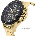 Authentic ARMANI EXCHANGE AX1511 Chronograph Black Dial Gold-tone Men's Watch
