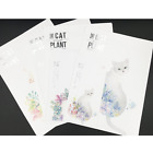 Lillicraftgift Simple The Cat Plant Style Writing Stationary Paper Letter Set 24