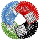 100 Mixed Colors Bingo Cards Set Assorted Party Activity Game Free Us Shipping